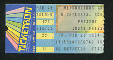 1984 Judas Priest Great White concert ticket Meadowlands Defenders of the Faith
