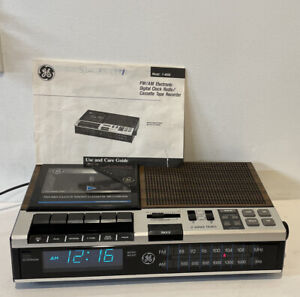 GE General Electric 7-4956B AM-FM Cassette tape Player Alarm Clock Radio PARTS