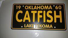 Cabin Decor.  Lake Texoma Catfish License Plate.  Fishing, Oklahoma