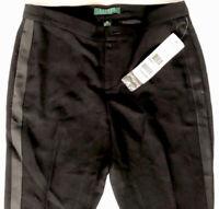 Ralph Lauren Women's Black Stripe Tuxedo Petite Pant 2P