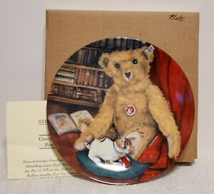 Steiff Club Collectors Barle Bear Porcelain Wall Plate with COA & MIB, No Chips