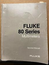 Fluke Service Manual For The 80 Series Multimeters 83 85 87