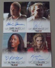 True Blood Premiere 4 Card AUTOGRAPH LOT - Bauer Bowler Wesley Bauer