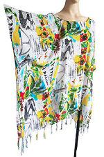 bianco da donna / brillante Multicolore Kaftan Poncho Tunica SPIAGGIA GRANDE