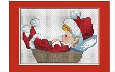 Cross stitch kit - Christmas Elf greeting card complete kit including card