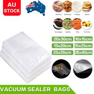 200/100 X Vacuum Sealer Bags Precut Food Storage Saver Heat Seal Cryovac 6 Size