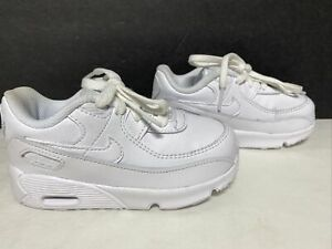 Nike Toddler's Air Max 90 Leather Shoes White Size 8C EUC