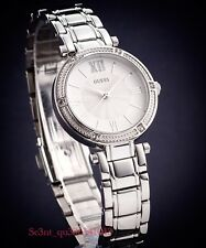 GUESS LADIES' PARK AVE SOUTH WATCH SILVER TONE W0767L1 RRP:$329 BRAND NEW