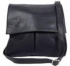Echt Leder Damen Tasche Handtasche Schultertasche Ledertasche  schwarz MC102940