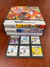 Nintendo DS 9 Games Lot Tested & Working - Bakugan Mushroom Men Pipe Mania Petz