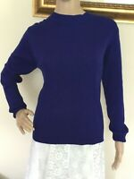 80's Vintage Royal Blue Ribbed Knit Sweater