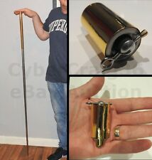 140cm LONG METAL APPEARING GOLD SILVER CANE STAGE TRICK MAGIC OR USE FANCY DRESS