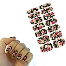 Water Transfer Nail Art Sticker Rose Flowers Design Manicure Decor Decal