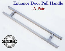 "Pair of Back to Back Sqaure Tube Glass Door Pull Handle 36""/ 90cm /900mm"