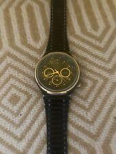 Men's Vintage Sekonda two tone  Black/gold watch with Lunar Calendar moonphase