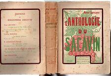 ANJOU MARC LECLERC ANTHOLOGIE DU SACAVIN 1925 OEUVRES BACHIQUES VIN OENOLOGIE