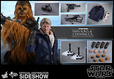 Star Wars Ep. VII 7 Han Solo and Chewbacca Action Figures set Hot Toys Sideshow