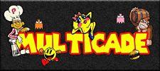 "2-NEW Arcade DESIGN Classic steel marquee Multicade Art sticker  16 x 3"""