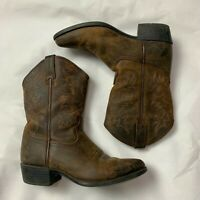 Ariat 10001825 Heritage Brown Distressed Pull On Cowboy Western Boots youth US 3