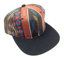 BROWN BLACK NAVAJO PRINT SNAPBACK HAT CAP ABSTRACT AZTEC NATIVE AMERICAN RETRO