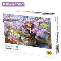 1000 Pieces DIY Jigsaw Puzzle Children Adults Decompression Toy Sakura Villa