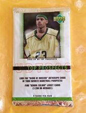 2003-04 UD Top Prospects Basketball HOBBY Pack LeBron James Rookie/Auto/Jersey?