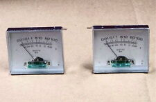 2 PCS Stereo VU audio amplifier kit Power Meters .01-100 Watt electronic pair