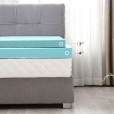 Comfort 3'' Full Size Memory Foam Mattress Topper Home Blue
