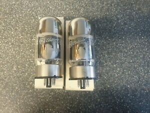 New Old Stock Matched Pair GE KT88 6550 Valve/Tube TV-7 TESTED