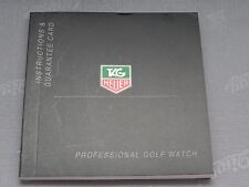 Tag Heuer Instructions booklet for Professional Golf watch Swiss Made