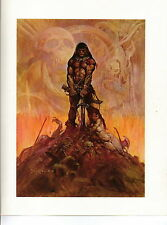 "1975 full Color Plate ""The Barbarian"" by Frank Frazetta Fantastic GGA"