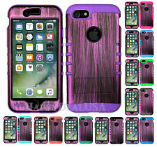 For Apple iPhone 7 | 7 Plus - KoolKase Hybrid Case Silicone PURPLE WOOD Cover