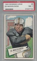 1952 Bowman LARGE football card #8 Ed Modzelewski, Pittsburgh Steelers PSA 7