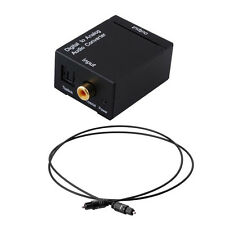 Digital Optisch Toslink Koaxial auf Analog L/R RCA Audio Konverter Adapter+Kable