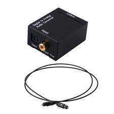 Digital visualmente TOSLINK coaxial en analógico L/R audio RCA Convertidor adaptador + Kable