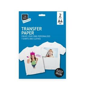 A4 EASY IRON PERSONALISED CUSTOM HOME MADE T-SHIRT INKJET PRINTER TRANSFER PAPER