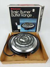 New listing (M) Vintage Toastmaster Basic Burner Buffet Range 6420 750 Watt Usa Original box