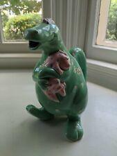 New ListingFitz & Floyd Fantasy Fair Ceramic Dinosaur Pitcher w/ Baby 1986 Green/Pink