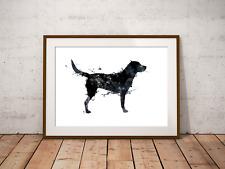 Black Labrador Art Print, Pet Portrait , Home Decor, Dog Art, Animal Decor