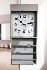 LARGE WOODEN WALL CLOCK WITH 3 SHELVES- RETRO DESIGN VINTAGE- BOOKS SHELF
