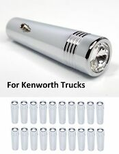 (Set/20) for Kenworth Clear Toggle Switch Extension 2-1/4 Long Chrome Metal