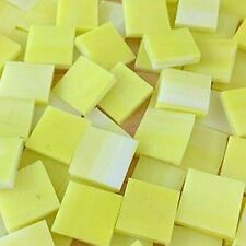 """1/2"""" YELLOW Stained Glass Mosaic Tiles (100 PIECES)"""