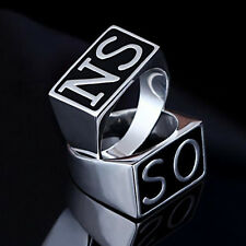 Popular Stainless Steel SONS Punk Ring Band SO NS Silver Wedding Biker Motor
