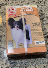 """The Ideal Pet Door Small 5"""" x 7"""" Flap Size New In Box Old Stock Cat or Dog"""