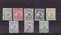 K127) Australia 1913 1st wmk. Kangaroos fine used set to 1/-