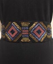 Vintage Vanessa for Fashion Imports Beaded Belt Black & Gold