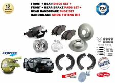 FOR LEXUS RX300 RX400H RX350 2003--> FRONT and REAR BRAKE DISCS + PADS + SHOES