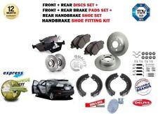 für LEXUS RX300 RX400H RX350 2003> vorne & hinten Bremsscheiben+BELÄGE+Schuhe