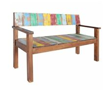 Industrial Style Bench Vintage Hallway Furniture Rustic Solid Wood Dining Chair
