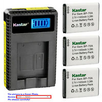 Kastar Battery LCD USB Charger for Samsung BP-70A & Samsung TL205 WB30F Camera